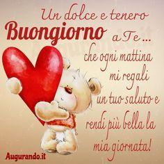 Italian Greetings, Tatty Teddy, Good Morning Good Night, Love Images, Messages, Facebook, Anna, Superga, Video