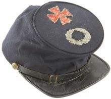 Military & Patriotic:Civil War, Commercially Produced Forage Cap with Large V Corps Insignia. Thisexample of a privately purchased cap reflects the high qu...