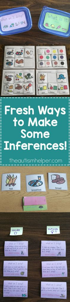We're sprucing up a product fav that you may already have in your classroom - TAH Make Some Inferences Sets!! Shake up that end-of-the-year rut with new ideas!! Find Holly's tips on the blog! From theautismhelper.com #theautismhelper.com
