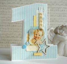 Cards for a year. Template Ones. Discussion on LiveInternet - Russian Service Online Diaries Kids Cards, Baby Cards, Online Diary, Scrapbook Albums, Scrapbooking, You Are My Sunshine, Handicraft, Baby Blue, Cardmaking