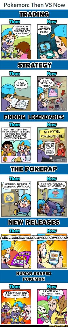 Pokemon then and now