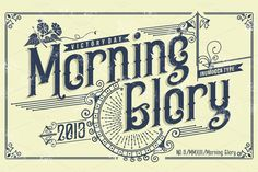 Morning Glory by inumoccatype on @creativemarket