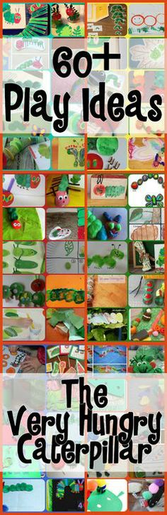 60+ Play Ideas Based On The Very Hungry Caterpillar Book By Eric Carle ** {Click Image for More} **  #ericcarle #hungrycaterillar http://www.powerfulmothering.com/60-play-ideas-based-on-the-very-hungry-caterpillar-book-by-eric-carle/