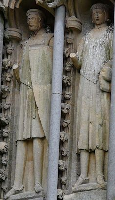 Wells Cathedral, c.1230-40 West Front Statues 125 & 126