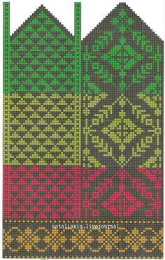 Knitted Mittens Pattern, Knit Mittens, Knitted Gloves, Knitting Socks, Hand Knitting, Knitting Charts, Knitting Stitches, Knitting Patterns, Fair Isle Chart