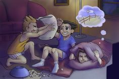 Ace Attorney: Slumber Party by Ayemae on DeviantArt