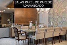 13 Salas Modernas - com Papel de Parede Adamascado!