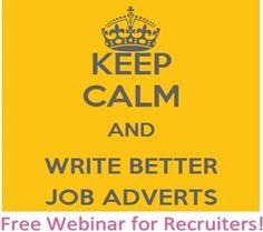 Recruiter Webinar: How to improve your job posts | http://www.barclayjones.com/blog/recruitment/recruiter-webinar-how-to-improve-your-job-posts/