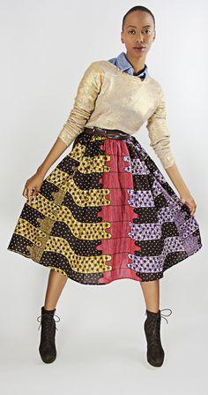 The Shavon African Print 100 Holland Wax by DemestiksNewYork, $95.00