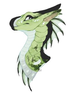 Dragon, green, white, black Element: None Wings Of Fire Dragons, Cool Dragons, Magical Creatures, Fantasy Creatures, Dragon Art, Dragon Puppet, Beautiful Dragon, Fire Art, Dragon Design