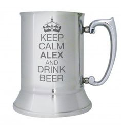 Keep Calm Stainless Steel Tankard | Hip Flasks & Metal Tankards | Exclusively Personal