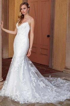 """Today's bridal inspiration is absolute perfection! This collection ofCasablanca Bridalwedding dresses is perfect for any classic bride that wants to maintain a sophisticated look. With exquisite attention to detail, these high-quality, luxurious gowns are effortlessly elegant. The designer takes pride in that every gown is """"unique from the hand beaded designs and exquisite laces, to …"""