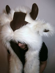 OMG IT'S AN APPA HAT! Avatar Appa Rave Hat on Etsy, $60.00 snoodie furry hood