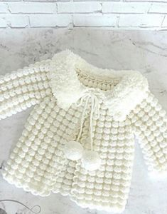 """Узор Чешуйки спицами """"This post was discovered by xen"""" Baby Knitting Patterns, Baby Patterns, Free Knitting, Crochet Patterns, Knitting Needles, Crochet Baby Sweaters, Crochet Baby Clothes, Knit Crochet, Baby Girl Crochet"""