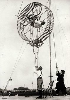 Vintage photo of circus performers