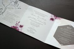 Grey Love Wedding Invitation    Love the layout, colors and style of this invitation/set