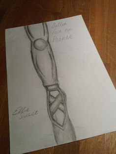I know its not very good but this is my attempt at sketching a ballet foot on pointe xx