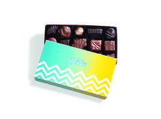 RMCF signature Small Assorted Gift Box with spring themed sleeve. #chevron