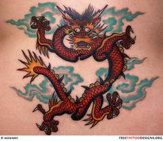 Chinese dragon tattoo designs, meaning and historical background. Relevant information for those who are about to have a dragon tattoo. Dragon Tattoo Pictures, Dragon Tattoos For Men, Chinese Dragon Tattoos, Dragon Tattoo Designs, Tattoo Designs For Girls, Tattoo Designs And Meanings, Tattoo Meanings, Back Tattoos, Love Tattoos