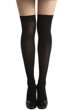 #ROMWEROCOCO Black-skin Color Contrasting Tights Perfect. My last pair has holes..