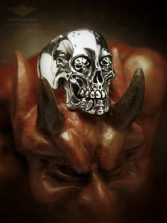 skull ring edemonium devil demon