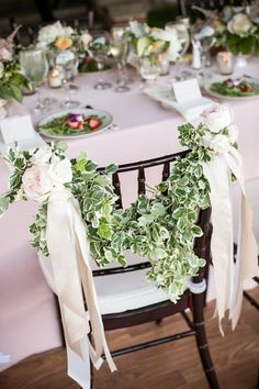 beautiful wedding chair…or for a special guest of honor