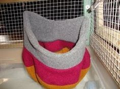 Simple and Easy Ways to Accessorize a Rat Cage with an old winter hat. Plus other ideas and tutorials.