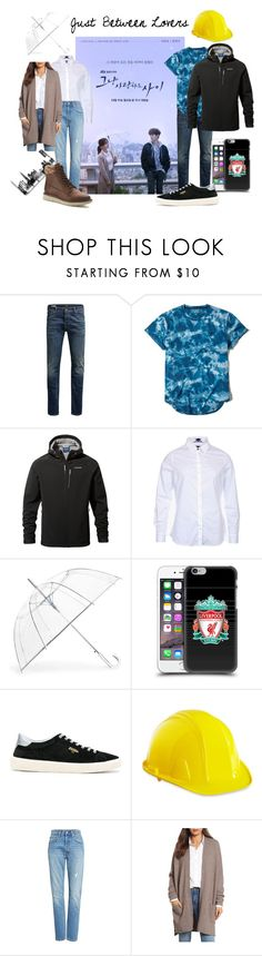"""Just Between Lovers #1"" by lora-86 on Polyvore featuring Jack & Jones, Hollister Co., Barbour, ShedRain, Golden Goose, Levi's, Caslon and SONOMA Goods for Life"