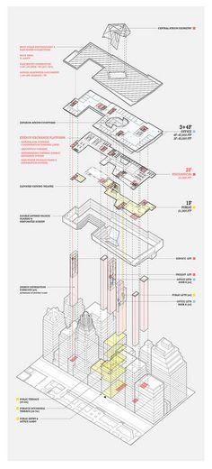Program Overview Axonometric - James Leng