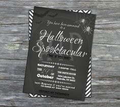 printable halloween party chalkboard invitation by DigiBabyDesign, $15.00