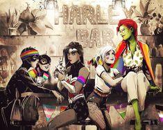 Happy Pride by samanthadoodles on DeviantArt Dc Comics, Batman Comics, Comics Girls, Batgirl, Joker Und Harley, Harley Quinn Comic, Lego Moc, Lego Minecraft, Batman Comic Art