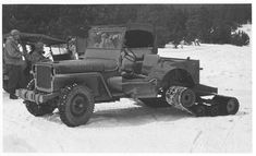 Tracked Willys MB Jeep working with 10th Mountain Division - Camp Hale, CO. Circa 1943