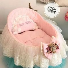 🌷Lindys👩🏻💼's media analytics. Baby Girl Bassinet, Baby Doll Bed, Baby Nest Bed, Baby Doll Nursery, Doll Beds, Baby Cribs, Baby Room, Baby Dolls, Baby Going Home Outfit