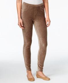Style & Co Petite Corduroy Leggings, Created for Macy's - Gray P/XL