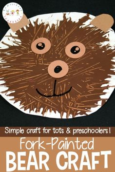 √ All About Me Preschool theme Crafts Worksheets . 3 All About Me Preschool theme Crafts Worksheets . Simple fork Painted Bear Craft for Preschoolers Homeschool Bear Crafts Preschool, Me Preschool Theme, Kindergarten Crafts, Toddler Crafts, Preschool Activities, Crafts For Kids, October Preschool Crafts, Preschool Worksheets, Forest Animal Crafts