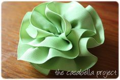 Ruffled Ribbon Bow - CUTE