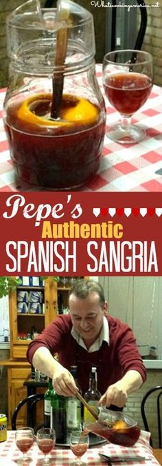 Authentic Spanish Sangria Recipe  |  whatscookingamerica.net  |  #spanish #sangria #redwine