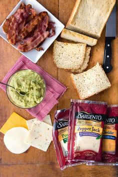 Grilled Triple Cheese Bacon Guacamole Sandwich A buttery and toasty grilled cheese sandwich stuffed with cool and creamy guacamole, crispy bacon and melted jack and cheddar cheese. The crunchy crumbled tortilla chips in this grilled cheese pay tribute to the classic combination of tortilla chips and guacamole dip. #Bacon #GuacamoleGrilled #Cheese #Sandwich
