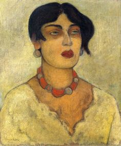 Diego Rivera     Portrait of Guadalupe Marin  1926. Green Key via Maia McDonald onto Fine Art