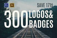 Check out 300 Logos & Badges by PiotrLapa on Creative Market Corporate Branding, Branding Design, Modern Logo, Creative Logo, Logo Templates, Badges, Graphic Design, Marketing, Logos