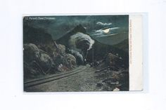 St Peter's Dome Colorado Springs and Cripple Creek Railway Postcard 1903