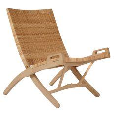 1stdibs.com | Hans Wegner PP512 hand woven cane folding chair with hook