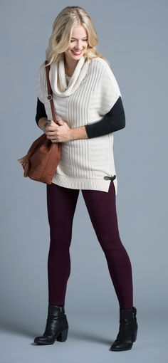 Classic Twist - Ribbed Cowl Pullover, Almond #rickis #loverickis #capsulewardrobe #fall #fall2016 #fallfashion #rickisfashion #classictwist #workstyle #workit #wearittowork