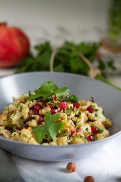 Salat aus geröstetem Blumenkohl & Haselnüssen I Roasted Cauliflower & Hazelnut Salad I haseimglueck.de