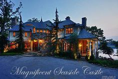 44, Glenwood Road, Roslyn Harbor, NY   Magnificent Seaside Castle! 7,800 Square-Foot One-Of-A-Kind Custom Built-2002 Waterfront Stone & Slate Retreat. This 14 Room,5 Bedroom,5.5 Bath Luxury Estate Exudes Dramatic Opulence, The Very Latest In Technology,Combined With The Finest Quality Craftsmanship And Appointments Throughout. Featuring A Summer Kitchen, Outdoor Fireplace,Pool W/Hot-Tub And Bbq.