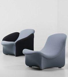 Lounge Chairs, ca. 1965 | armchair . Sessel . fauteuil | Design: Pierre Paulin | Artifort |