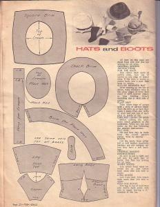 Free Fashion Doll Pattern - Hats & Boots