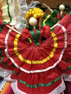 Colorful Husk dolls.