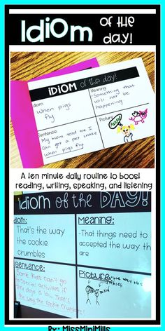 Help your students become idiom experts with this daily ten minute routine!