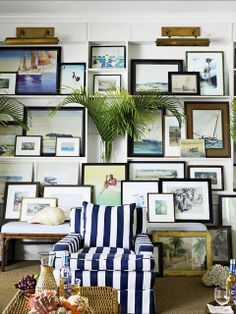 Ideas for Creating a Beach Art Gallery Wall | Beach House DecoratingBeach House Decorating